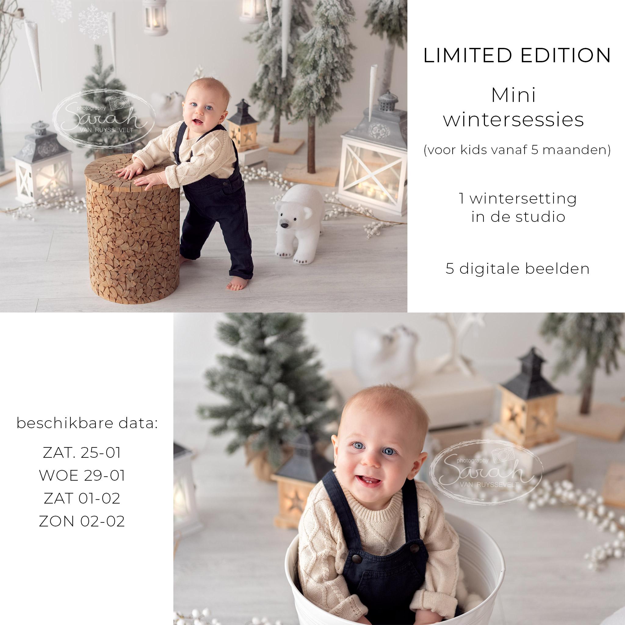 mini winter fotosessie, baby wintersessie, sitter, kinderfotografie, babyfotografie, Sarah Van Ruyssevelt Photography