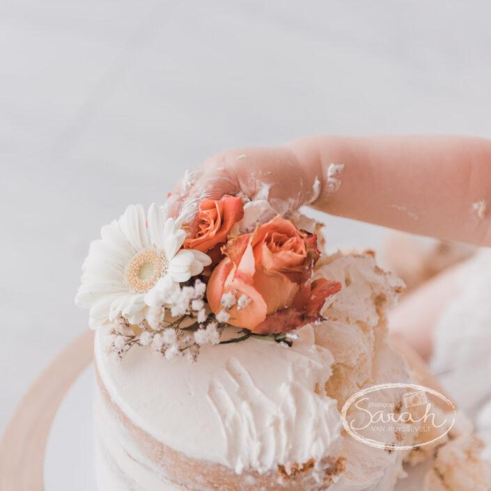 verjaardagstaart, eerste verjaardag, taart, cakesmash M, boho, Sarah Van Ruyssevelt Photography, smashcake