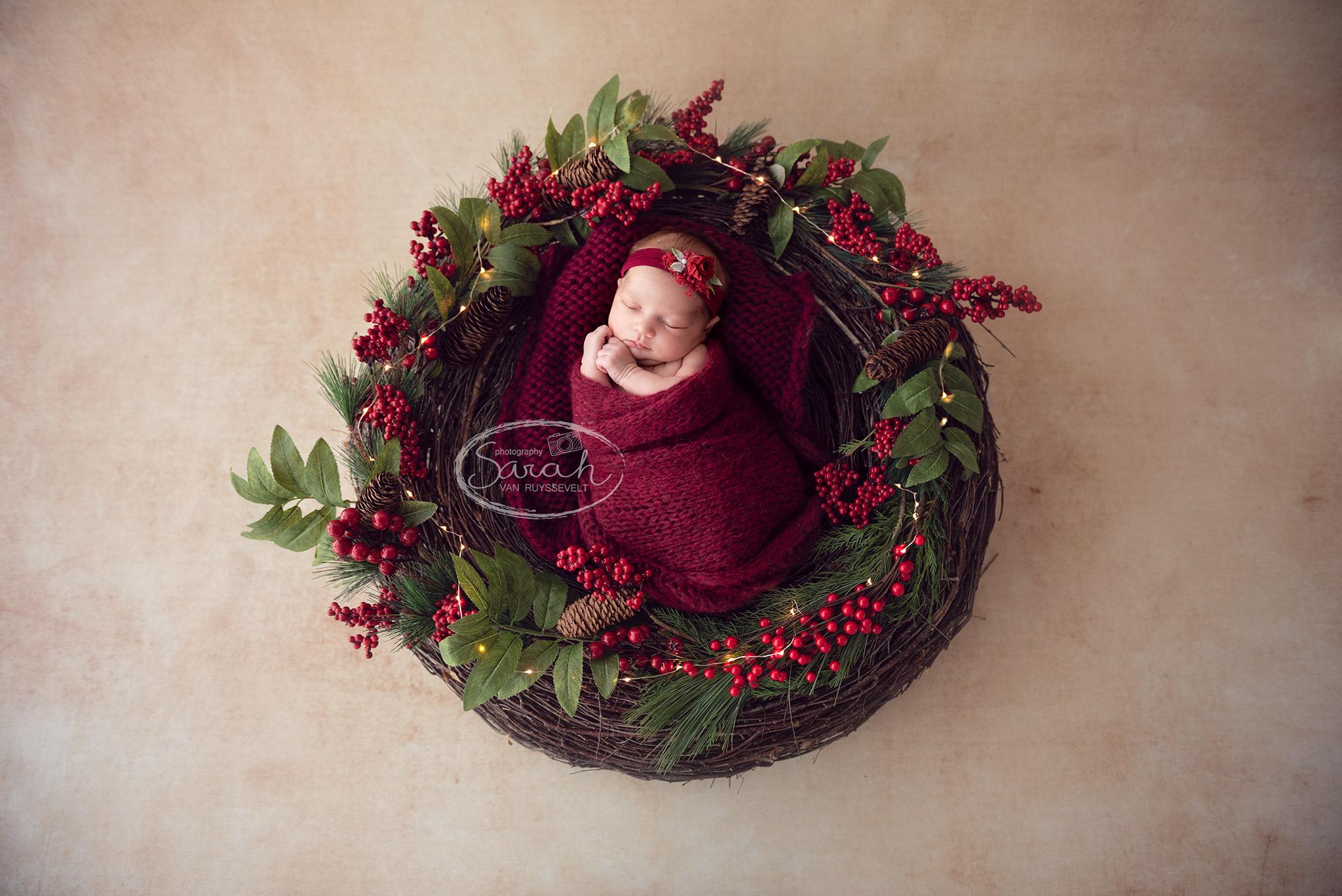 Kerstfoto, kerstfotografie, newborn, kinderen