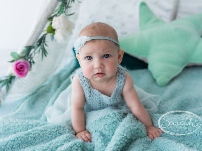 sitter baby in tent